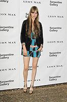LONDON - JUNE 26: Edie Campbell attended the Serpentine Gallery summer party, Kensington Gardens, London, UK. June 26, 2012. (Photo by Richard Goldschmidt)