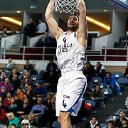 Anadolu Efes's Dogus Balbay during their Turkish Basketball League match Anadolu Efes between Mersin BSB at Sinan Erdem Arena in Istanbul, Turkey, Saturday, January 14, 2012. Photo by TURKPIX