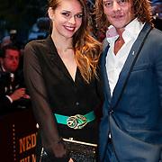 NLD/Utrecht/20121005- Gala van de Nederlandse Film 2012, Tygo Gernandt en partner Mirona
