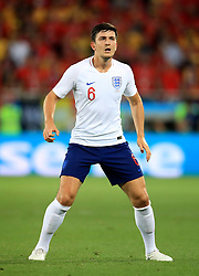 England's Harry Maguire during the FIFA World Cup Group G match at Kaliningrad Stadium. PRESS ASSOCIATION Photo. Picture date: Thursday June 28, 2018. See PA story WORLDCUP England. Photo credit should read: Adam Davy/PA Wire. RESTRICTIONS: Editorial use only. No commercial use. No use with any unofficial 3rd party logos. No manipulation of images. No video emulation