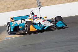 September 14, 2018 - Sonoma, CA, U.S. - SONOMA, CA - SEPTEMBER 14: Colton Herta hits the rumble strips hard during the afternoon Verizon IndyCar Series practice for the Grand Prix of Sonoma on September 14, 2018, at Sonoma Raceway in Sonoma, CA. (Photo by Larry Placido/Icon Sportswire) (Credit Image: © Larry Placido/Icon SMI via ZUMA Press)