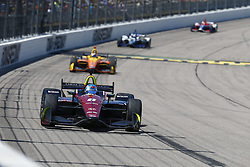 July 8, 2018 - Newton, Iowa, United States of America - ROBERT WICKENS (6) of Canada battles for position during the Iowa Corn 300 at Iowa Speedway in Newton, Iowa. (Credit Image: © Justin R. Noe Asp Inc/ASP via ZUMA Wire)
