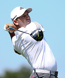 September 21, 2017 - Atlanta, Georgia, United States - Sergio Garcia tees off the 4th hole during the first round of the TOUR Championship at the East Lake Club. (Credit Image: © Debby Wong via ZUMA Wire)
