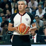 Referee's Ersan ERGULER during their Turkish Basketball Legague Play-Off semi final second match Efes Pilsen between Fenerbahce at the Sinan Erdem Arena in Istanbul Turkey on Friday 27 May 2011. Photo by TURKPIX