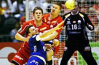 Håndball , 30. desember 2010 , NM herrer  , <br /> Haslum - Follo<br /> Bård Egil Tobiassen , Haslum og Einar Sand Koren , Haslum