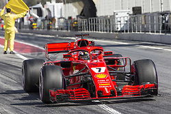 March 9, 2018 - Barcelona, Catalonia, Spain - Ferrari driver Kimi Raikkonen (7) of Finland during the test of F1 celebrated at Circuit of Barcelonacon 9th March 2018 in Barcelona, Spain. (Credit Image: © Joan Valls/NurPhoto via ZUMA Press)