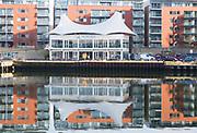 Aurora restaurant building Ipswich Wet Dock waterside redevelopment, Ipswich, Suffolk, England, Uk