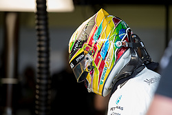 November 10, 2017 - Sao Paulo, Sao Paulo, Brazil - 44 LEWIS HAMILTON (GBR) of Mercedes AMG Petronas F1 Team, during the free training day for the Formula One Grand Prix of Brazil at Interlagos circuit, in Sao Paulo, Brazil. The grand prix will be celebrated next Sunday, November 12. (Credit Image: © Paulo Lopes via ZUMA Wire)
