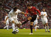 Fotball<br /> England 2005/2006<br /> Foto: SBI/Digitalsport<br /> NORWAY ONLY<br /> <br /> Manchester United v Debrecen VSC. UEFA Champions League Qualifier.<br /> 09/08/2005.<br /> <br /> Manchester United's Ruud van Nistelrooy fires a shot in on goal.