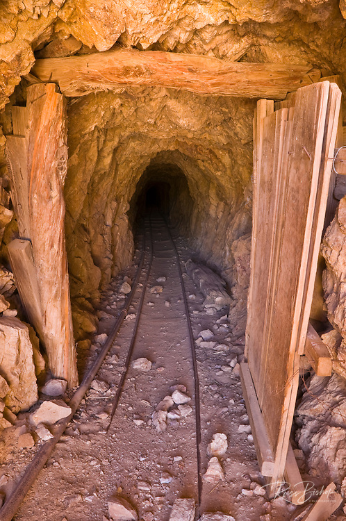 The entrance to the Eureka Mine, Death Valley National Park. California USA
