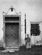 Girl with Pole Next to Door, Salzburg, Austria, c1933