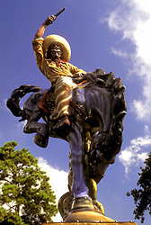 """Stock photo of the """"Vaquero"""" sculpture by Luis Jimenez located at Moody Park in Houston Texas"""