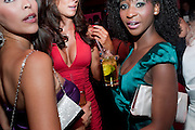 CHARLOTTE CAMPBELL;  SOPHIE GRADON, NATASHA NCUBE, Miss Great Britain - anniversary event. The Red Room, Les Ambassadeurs Club, 5 Hamilton Place, London W1 18 August 2010. -DO NOT ARCHIVE-© Copyright Photograph by Dafydd Jones. 248 Clapham Rd. London SW9 0PZ. Tel 0207 820 0771. www.dafjones.com.