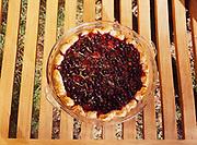 Multi-berry pie made from blueberries, raspberries, blackberries and red currants by chef Kirsten Dixon, Winterlake Lodge, Finger Lake, Alaska.