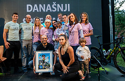 Luka's family at Reception of Slovenian rider Luka Mezgec after  he finished his first Tour de France 2020 and placed second at 2 stages, on September 21, 2020 in Joze Plecnik garden, Ljubljana, Slovenia. Photo by Vid Ponikvar / Sportida