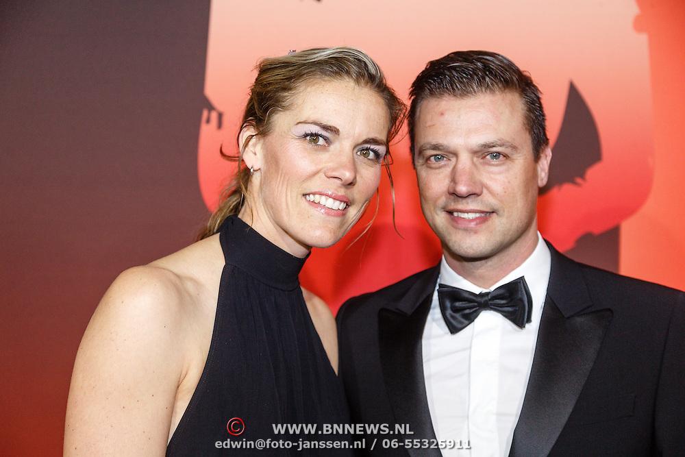 NLD/Amsterdam/20151215 - NOC / NSF Sportgala 2015, Lobke Berkhout en partner Dennis van der Laan