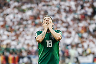 Andres Guardado of Mexico reacts during the 2018 FIFA World Cup Russia, Group F football match between Germany and Mexico on June 17, 2018 at Luzhniki Stadium in Moscow, Russia - Photo Thiago Bernardes / FramePhoto / ProSportsImages / DPPI