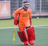 AMSTELVEEN  - keeper Sam van der Ven (Ned)   tijdens de  training Nederlands hockeyteam mannen voor de Pro League wedstrijden tegen Groot Brittannie   COPYRIGHT KOEN SUYK