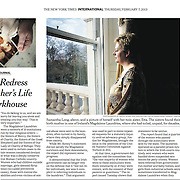 "Tearsheet of ""Ireland's Magdalene Laundries"" published in The New York Times"
