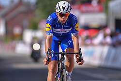 July 28, 2018 - Les Bons Villers, BELGIUM - Colombian Alvaro Jose Hodeg of Quick-Step Floors arrives after the first stage of the Tour De Wallonie cycling race, 193,4 km from La Louviere to Les Bons Villers, on Saturday 28 July 2018. BELGA PHOTO LUC CLAESSEN (Credit Image: © Luc Claessen/Belga via ZUMA Press)