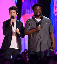 LOS ANGELES - AUGUST 13: Adam Scott and Craig Robinson onstage at FOX's 'Teen Choice 2017' at the Galen Center on August 13, 2017 in Los Angeles, California. (Photo by Frank Micelotta/FOX/PictureGroup) *** Please Use Credit from Credit Field ***