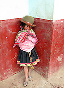 A young girl in a remote Peruvian Village