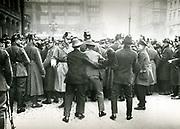 Police confronting demonstrators, Berlin, 1923