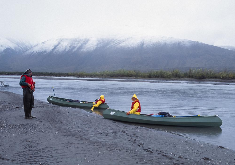 John and Pat Willits, Noatak River, Gates of the Arctic National Park, Alaska. August 1994