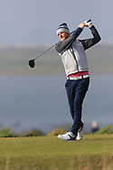 Jamie Stothers (Tandragee) on the 1st tee during Round 3 of The West of Ireland Open Championship in Co. Sligo Golf Club, Rosses Point, Sligo on Saturday 6th April 2019.<br /> Picture:  Thos Caffrey / www.golffile.ie