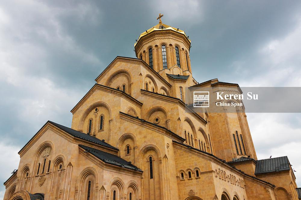Holy Trinity Cathedral of Tbilisi, also known as Sameba, Tbilisi, Georgia