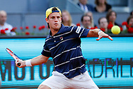 Diego Schwartzman of Argentina in action during the Mutua Madrid Open 2018, tennis match on May 10, 2018 played at Caja Magica in Madrid, Spain - Photo Oscar J Barroso / SpainProSportsImages / DPPI / ProSportsImages / DPPI
