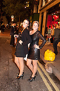 LUISA MALTA; BARBARA AMIM, Vogue: Fashion's Night Out:New Bond Street, London. 8 September 2010.  -DO NOT ARCHIVE-© Copyright Photograph by Dafydd Jones. 248 Clapham Rd. London SW9 0PZ. Tel 0207 820 0771. www.dafjones.com.
