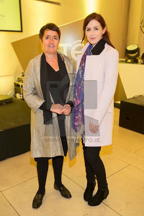 Angela Rohan and Nimah Ryan pictured at the launch of RTÉ 1916, an ambitious programme of content and events across television, radio, mobile and online, in the National Gallery of Ireland. Picture Andres Poveda ***Repro Free***