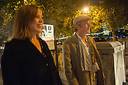 FLORA FAIRBAIRN; STUART FERRIS, Night paintings by Paul Benney, Crypt, Somerset House. London. 4 October 2012.