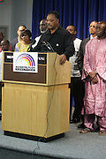 September 19, 2012- New York, New York:  Rev. Jesse Jackson of The Rainbow PUSH Coalition has once again secured the release of 2 U.S. Citizens held as prisoners in the Gambia in Africa. Former Prisoner Amadou Scattred Janneh, a former Professor at the University of Tennessee, who held dual US Citizenship with the Gambia, was serving a life sentence for Treason. In addition to him, Tamsir Jessah, a U.S Citizen and former U.S. Military Veteran with dual citizenship with the West African nation was also serving a twenty-year sentence for Treason. With a face-to-face appeal by Rev. Jesse L. Jackson, with the Yayha Jammeh, President of The Gambia an agreement was made to release the two American citizens into Rev. Jackson's custody who allow them to return to the United States with Jackson Tuesday night.  The two men returned to the U.S. by plane with Rev. Jackson from The Gambia to joyfully grateful waiting family members. In addition, President Jammeh has agreed to extend the moritorium on executions indefinitely, marking a significant gain for Human Rights in the West African Nation. (Terrence Jennings)