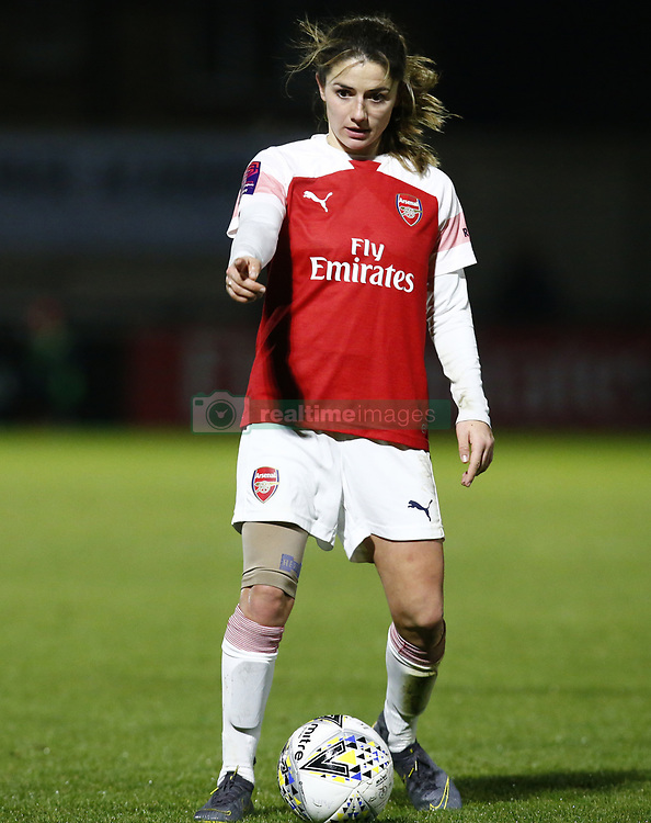 February 7, 2019 - London, England, United Kingdom - Danielle van de Donk of Arsenal .during FA Continental Tyres Cup Semi-Final match between Arsenal and Manchester United Women FC at Boredom Wood on 7 February 2019 in Borehamwood, England, UK. (Credit Image: © Action Foto Sport/NurPhoto via ZUMA Press)