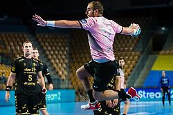 Patrik Leban of RK Celje Pivovarna Lasko during handball match between RK Celje Pivovarna Lasko (SLO) and THW Kiel (GER) in Group Phase B of EHF Champions League 2020/21, on 1 October, 2020 in Arena Zlatorog, Celje, Slovenia. Photo by Grega Valancic / Sportida