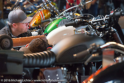 The One Show motorcycle show in Portland, OR. February 13, 2016. ©2016 Michael Lichter