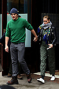 Dec. 2, 2015 - New York City, NY, USA - <br /> <br /> Actor Rupert Friend and his fiance Aimee Mullins leave a downtown hotel on December 2 2015 in New York City<br /> ©Exclusivepix Media