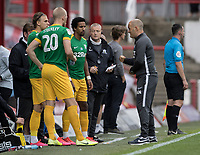 Preston North End's manager Alex Neil (right) briefs his substitutes<br /> <br /> Photographer Andrew Kearns/CameraSport<br /> <br /> The EFL Sky Bet Championship - Brentford v Preston North End - Wednesday 15th July 2020 - Griffin Park - Brentford <br /> <br /> World Copyright © 2020 CameraSport. All rights reserved. 43 Linden Ave. Countesthorpe. Leicester. England. LE8 5PG - Tel: +44 (0) 116 277 4147 - admin@camerasport.com - www.camerasport.com