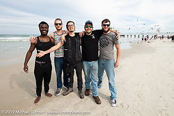 MMI motorcycle mechanic students on the beach during Daytona Bike Week, FL. USA. Sunday March 11, 2018. Photography ©2018 Michael Lichter.