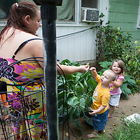 Desiree grows vegetable in her garden. She often makes jams, preserves to make sure that Serenity and William eat healty and knows the what the real taste of food.