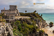 Archeological Zone of Tulum Mayan Port City Ruins in Tulum, Mexico