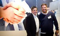 DEN HAAG - Max Caldas en Paul van Ass . KNHB Technisch Kader Congres ' Coach the game' bij EY in Den Haag. FOTO KOEN SUYK