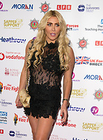Paula London, Arriving in front of the Branding board for Sapper Support event at the Army & Navy Club, Pall Mall, London.