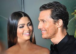 Matthew McConaughey and wife Camila Alvares attend the Goldene Kamera 2014 at Tempelhof Airport Hangar 7, Berlin, Germany, Saturday, 1st February 2014. Picture by  Schneider-Press / i-Images<br /> UK & USA ONLY