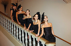 Models at a private dinner to unveil the Van Cleef & Arpels jewellery collection 'Couture' with fashion by Anouska Hempel Couture held at The Banqueting House, Whitehall Palace, London on 8th March 2005.<br />