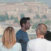 Hollywood actor Hugh Jackman shoots a commercial for Lipton Ice Tea in Budapest, Hungary on September 02, 2011. ATTILA VOLGYI