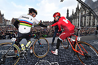 Start, KRISTOFF Alexander (NOR) Katusha, SAGAN Peter (SVK) Etixx,  Fans Public  Supporters, BRUGGE City Ville,  Spectators, during the 100th Tour of Flanders 2016,  Brugge - Oudenaarde (255Km) in Belgium, on April 3, 2016 - Photo Tim de Waele / DPPI