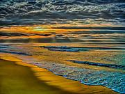 Atlantic Ocean at Rhode Island at dawn Charlestown and Misquamecut, Rhode Island.